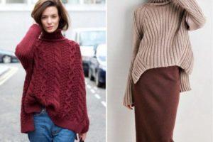 свитер с крупной вязкой