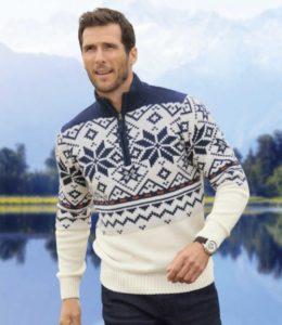 свитер с узором