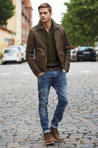 повседневный с джинсами