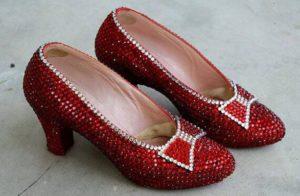 Туфли с рубинами