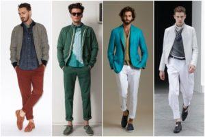 разновидности укороченных мужских брюк