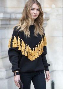 украшаем свитер кисточками