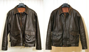 ушивание кожаной куртки