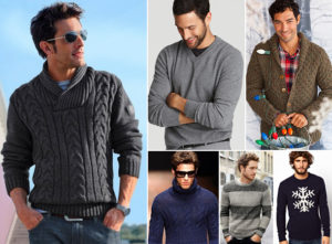 виды мужских свитеров