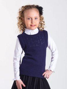 вязаная жилетка для девочки