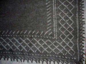 вязание простого платка