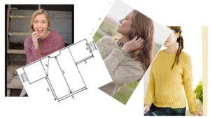 Выкройка женского свитера