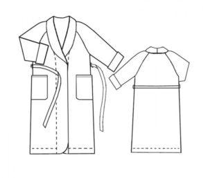 Выкройка мужского домашнего халата
