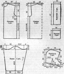 Раскрой мужского халата