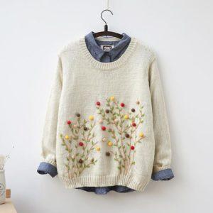 вышивка на свитере