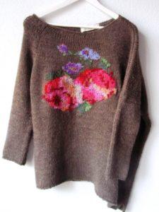 вышивка на свитере своими руками
