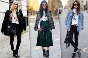 Разные чёрные модели женских ботинок