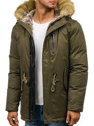 зелёная куртка парка мужская