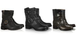 женские ботинки Байкеры