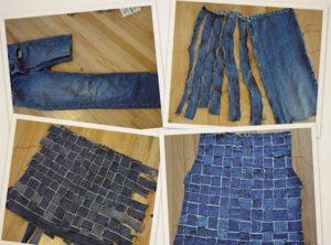 чем декорировать жилетку из джинсов