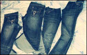 распоротые джинсы