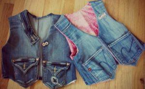 жилеты из джинсов