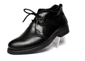 черные зимние мужские ботинки