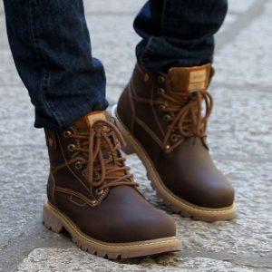 коричневые мужские ботинки