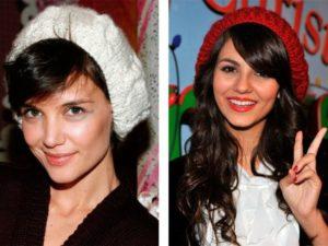 шапки с чёлкой