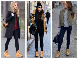 повседневные наряды с ботинками тимберлейд