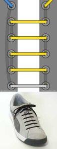 4 дырки прямая шнуровка