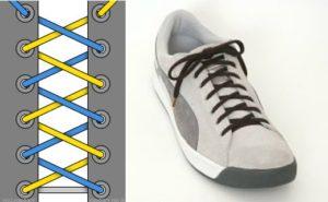4 дырки традиционная шнуровка
