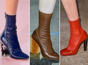 яркие ботинки чулки