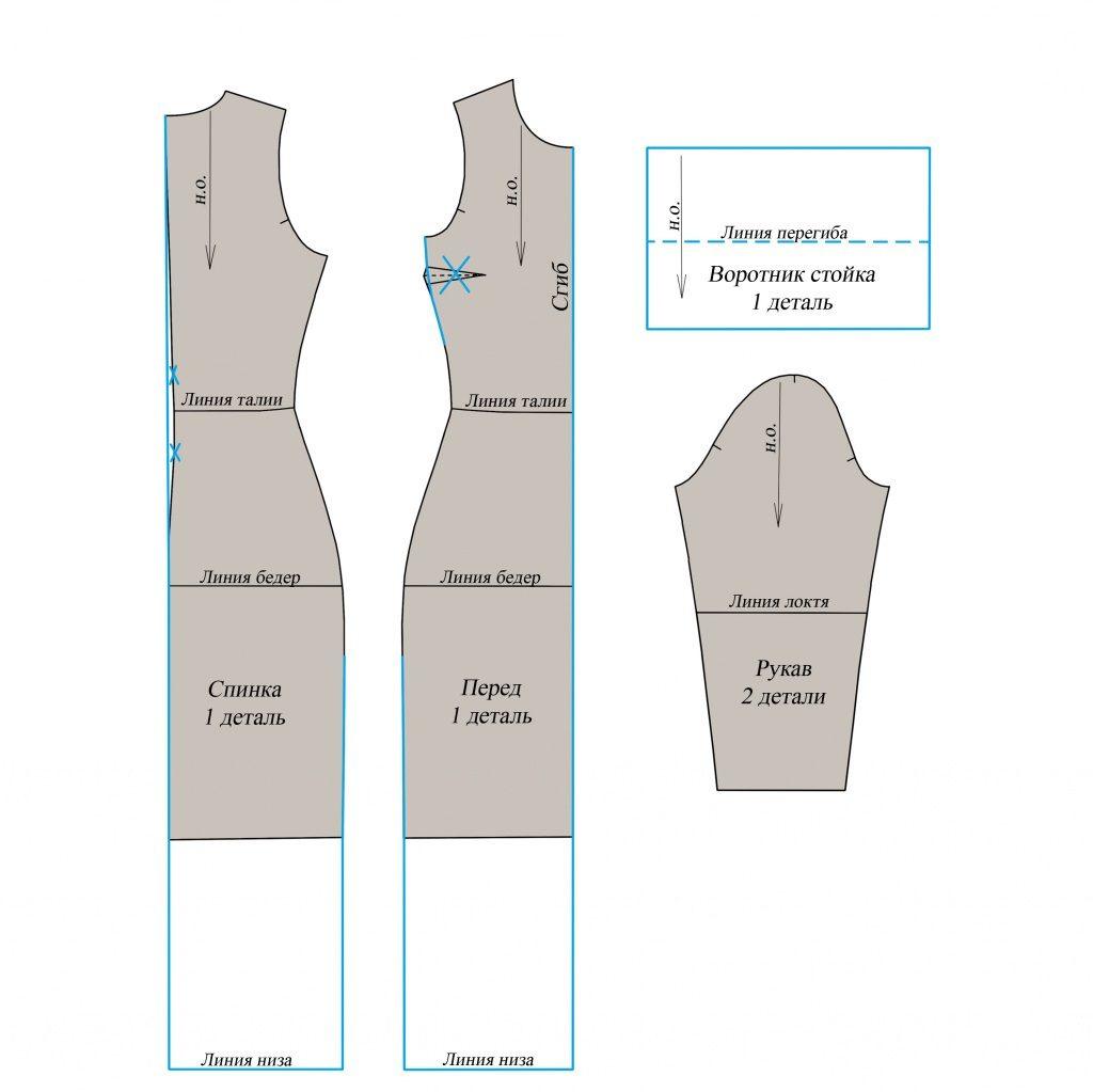Выкройка платья водолазки