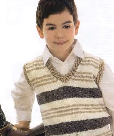 Полосатая жилетка для мальчика