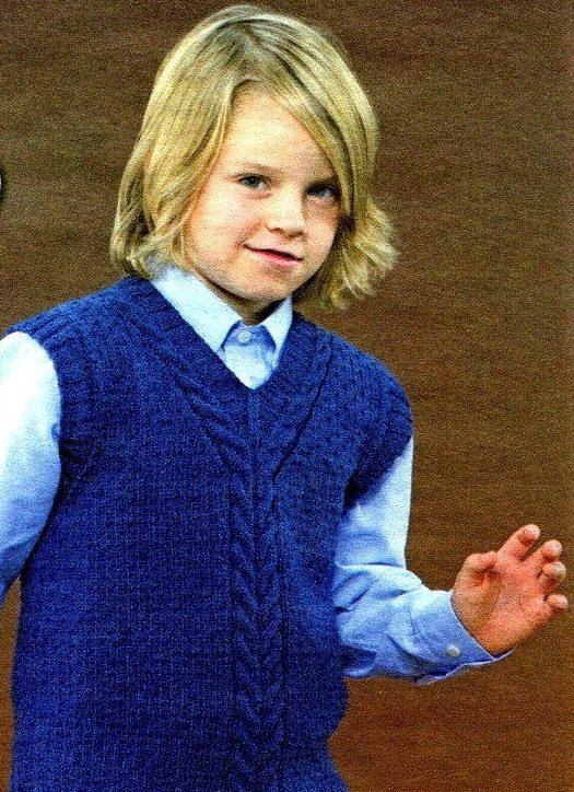 Синий жилет для мальчика