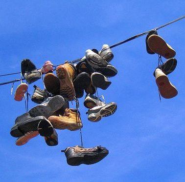 Ботинки на проводах