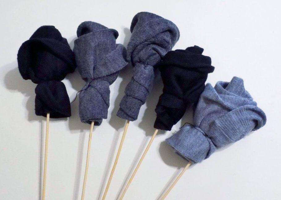 Цветы для букета из носков