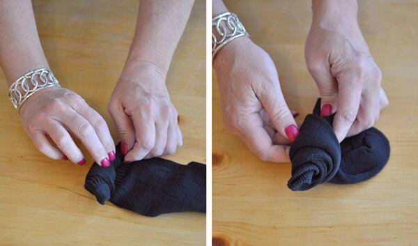 Как сделать цветок из носка