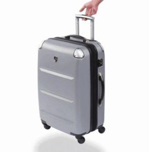 серый чемодан