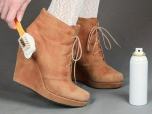 Как ухаживать за ворсовой обувьью