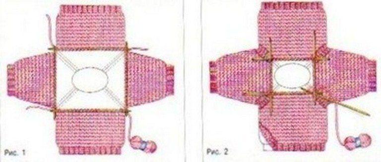 Как связать свитер реглан