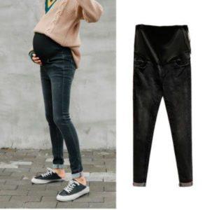 Беременная в джинсах