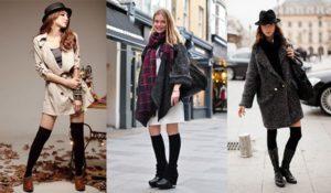 Гетры с пальто и куртками