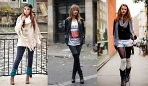 Гетры с джинсами и шортами