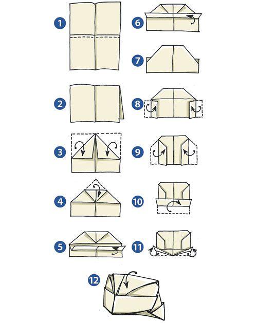 Схема 1 как сложить газету