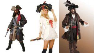 Женские и мужские пиратские костюмы