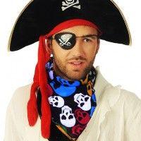 Шляпа пираток с красной повязкой