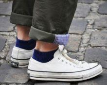 короткие носки с кедами