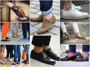 короткие носки и туфли
