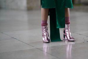 носки с люрексом с ботинками