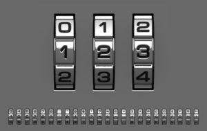 колесики кодового замка