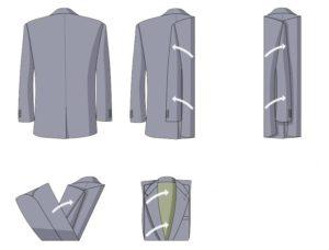 Складываем серый пиджак