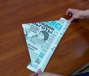 панама из газеты