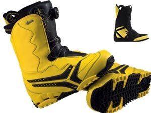 желтые ботинки для сноуборда